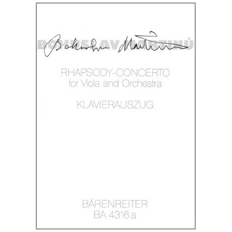 Martinu, B.: Rhapsody-Concerto
