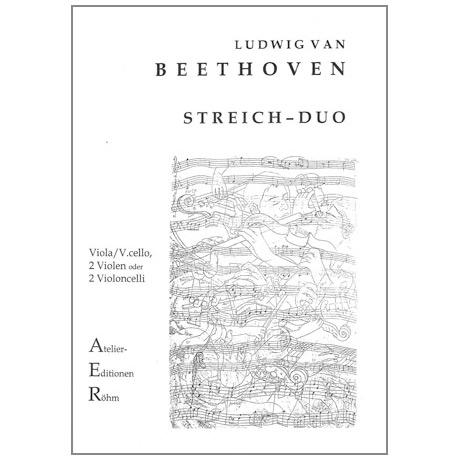 Beethoven, L. v.: Duett mit zwei obligaten Augengläsern WoO 32 Es - Dur