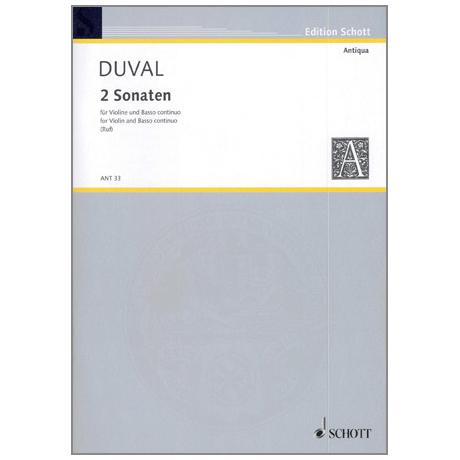 Duval, F.: 2 Violinsonaten D-Dur & G-Dur