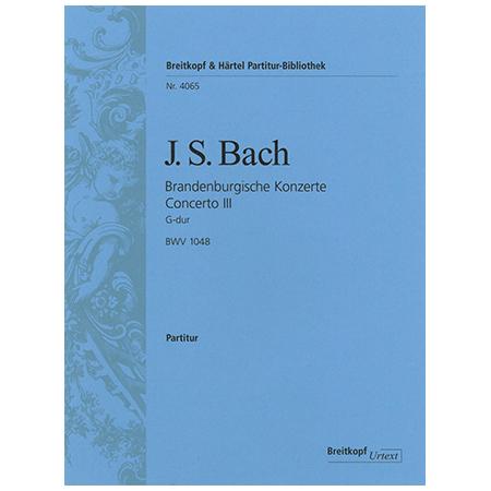 Bach, J. S.: Brandenburgisches Konzert Nr. 4 G-Dur BWV 1049