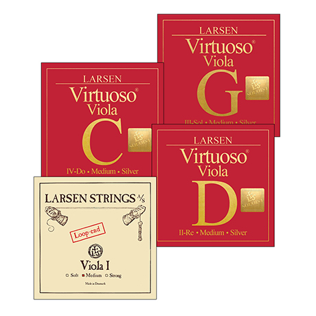 LARSEN Virtuoso Soloist viola strings SET