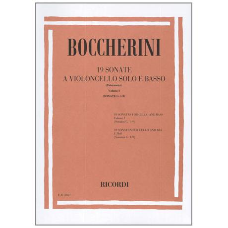 Boccherini, L.: 19 Violoncellosonaten Band 1 (Nr.1-9)
