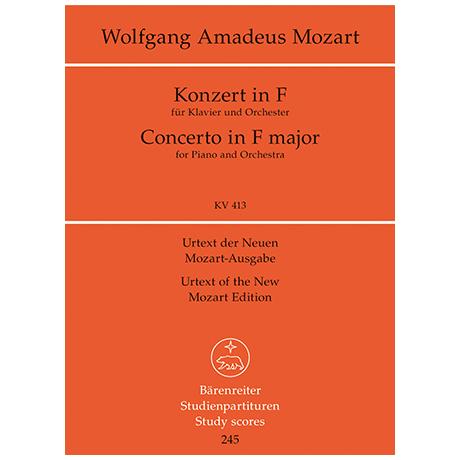 Mozart, W. A.: Klavierkonzert F-Dur KV 413 (387a) – Konzert für Klavier und Orchester