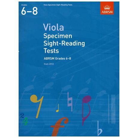 ABRSM: Viola Specimen Sight-Reading Tests – Grades 6-8