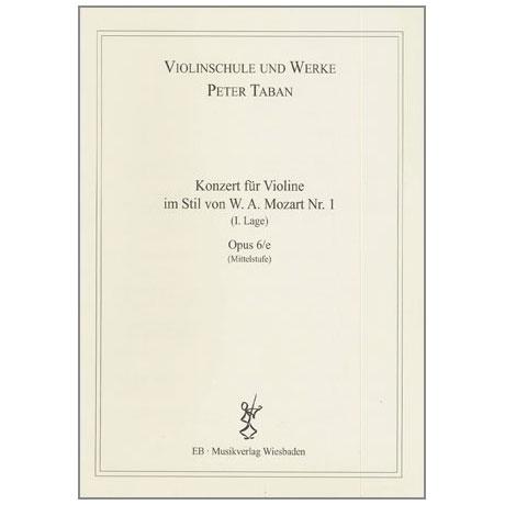 Taban, P.: Violinkonzert im Stil von W. A. Mozart Nr. 1 Op. 6/e