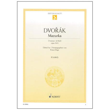 Dvořák, A.: Mazurka Op.56 Nr.4 d-Moll