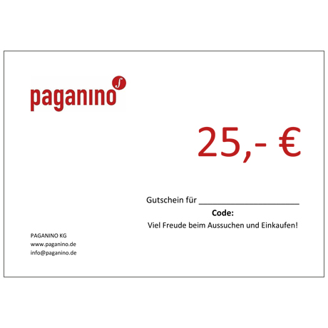 Gift certificate 25,- EUR