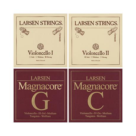 LARSEN Magnacore cello strings SET