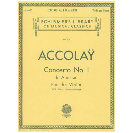 Accolay, J. B.: Concerto Nr. 1 a minor
