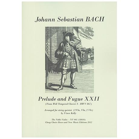 Bach, J. S.: Prelude and Fugue XXII (aus dem wohltemperiertem Klavier)