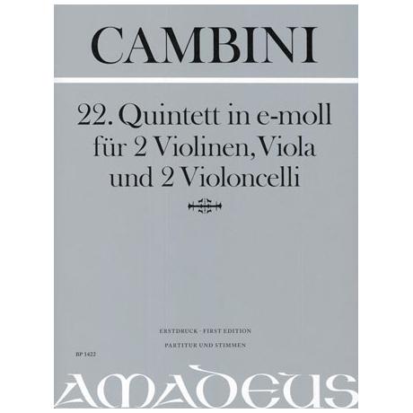 Cambini, G.: Streichquintett Nr. 22 e-Moll