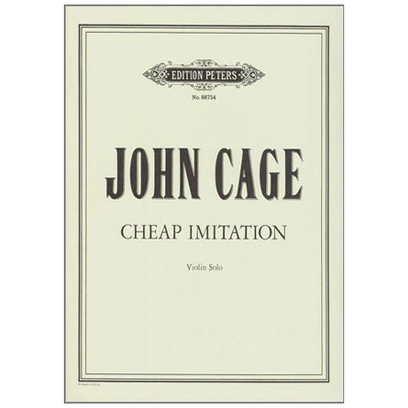Cage, J.: Cheap Imitation