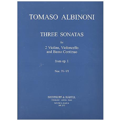 Albinoni, T.: Sonate a tre Op. 1 Band 2 (Nr. 4-6)