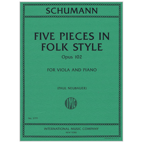 Schumann, R.: 5 Stücke im Volkston Op. 102