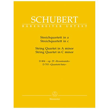 Schubert, F.: Streichquartett D 804 a-Moll »Rosamunde« und Quartettsatz D 703 c-Moll – Stimmen