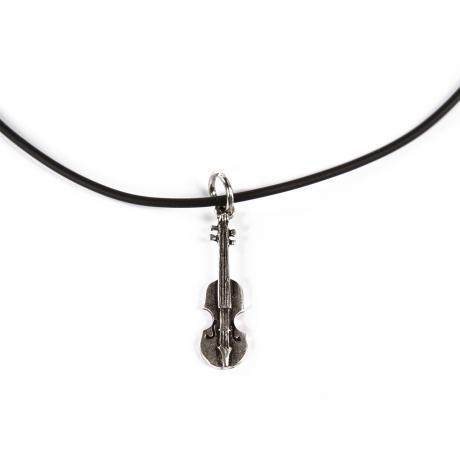 PACATO silly silver Necklace Violin black/silver