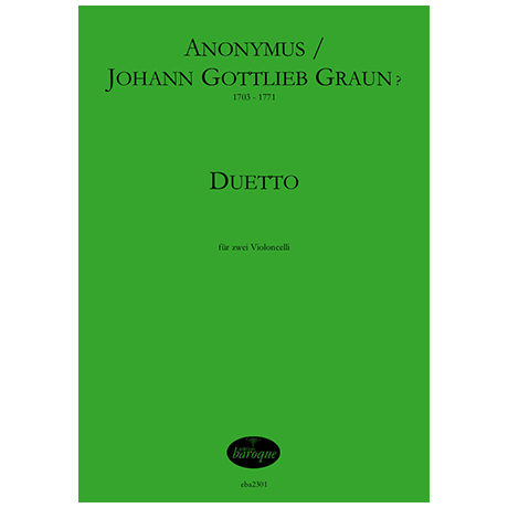Graun, J. G. / Anonymus: Duetto F-Dur