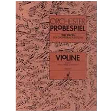 Orchester-Probespiel Violine Band 2