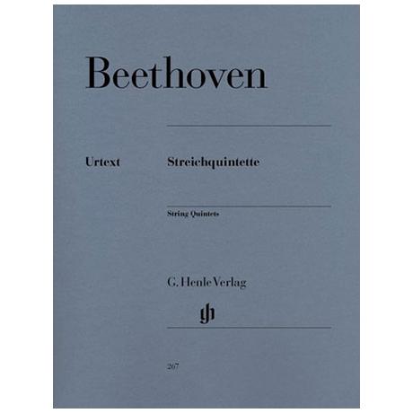 Beethoven, L. v.: Streichquintette Op. 4, 29, 104, 137
