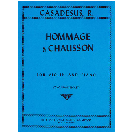 Casadesus, R.: Hommage a Chausson Op. 51