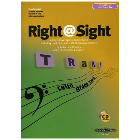 Lumsden, C.: Right@Sight for Cello Grade 2 (+CD)