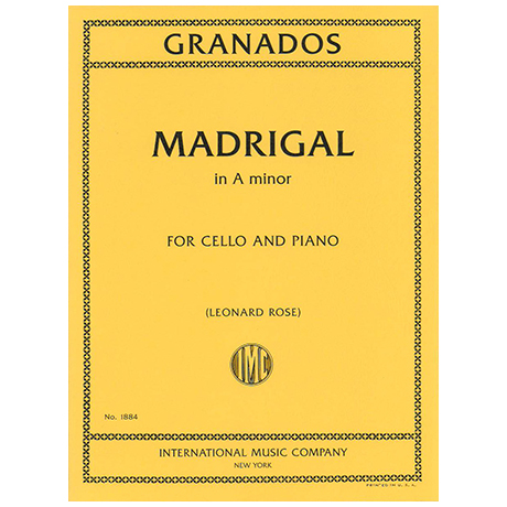 Granados, E.: Madrigal in a-moll