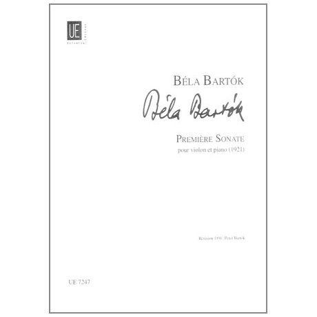 Bartók, B.: Violinsonate Nr. 1