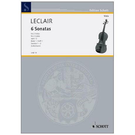 Leclair, J. M.: 6 Violasonaten Band 1 (Nr.1-3)