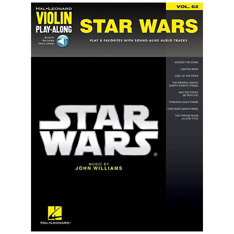 Williams, J.: Star Wars  – Violin play along 62 (+Online Audio)