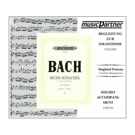 Bach, J. S.: 6 Violinsonaten Band 2 (Nr. 4-6) BWV 1017-1019 Compact-Disc CD