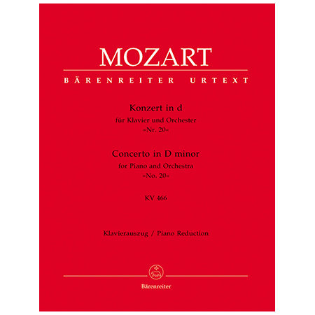 Mozart, W. A.: Klavierkonzert Nr. 20 KV 466 d-Moll