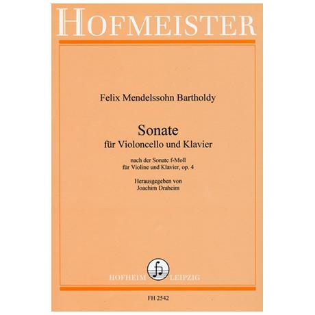 Mendelssohn Bartholdy, F.: Sonate Op. 4 f-Moll