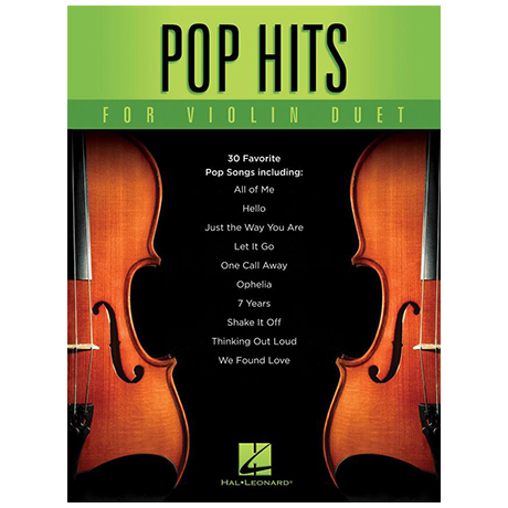 Pop Hits For Violin Duet