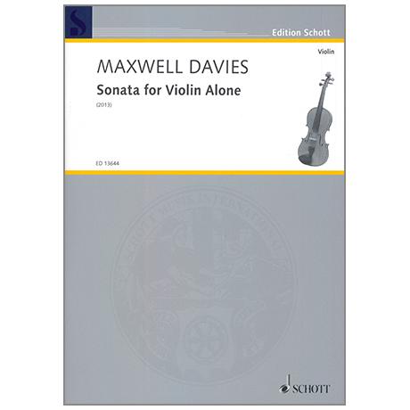 Davies, P. M.: Sonata for Violin Alone