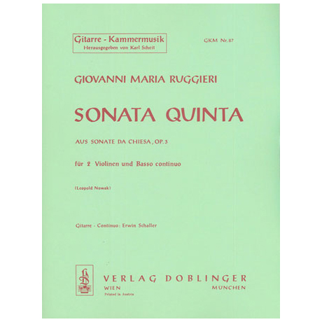 Ruggieri, G. M.: Sonata quinta g-Moll Op. 3