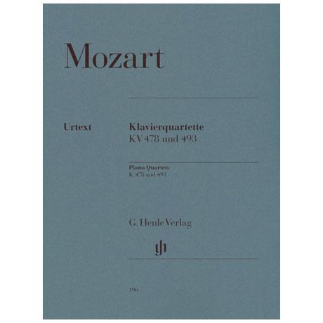 Mozart, W.A.: Klavierquartette g-Moll KV 478, Es-Dur KV 493 Urtext