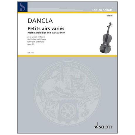 Dancla, J. B. Ch.: Petits airs variés sur des thèmes favoris Op. 89