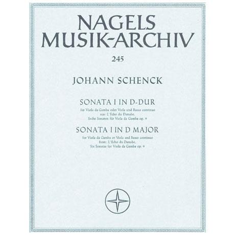 Schenck, J.: Violasonate »Sonata I aus L'Echo du Danube« D-Dur Op. 9/1
