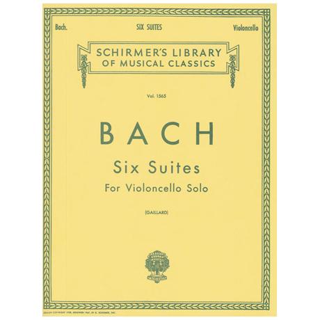 Bach, J. S.: 6 Cello-Suites BWV 1007-1012