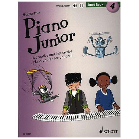 Heumann, H.-G.: Piano Junior – 4 Duet Book (+Online Audio)
