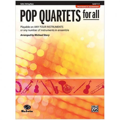 Pop Quartets for All (Cello/Bass)