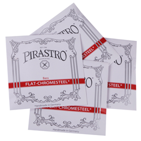 PIRASTRO Flat - Chromesteel bass strings SET