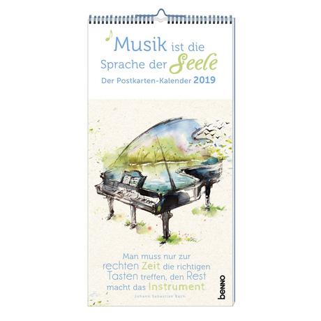 Postkartenkalender 2019 »Musik ist die Sprache der Seele«