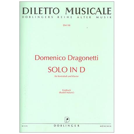 Dragonetti, D.: Solo D-Dur