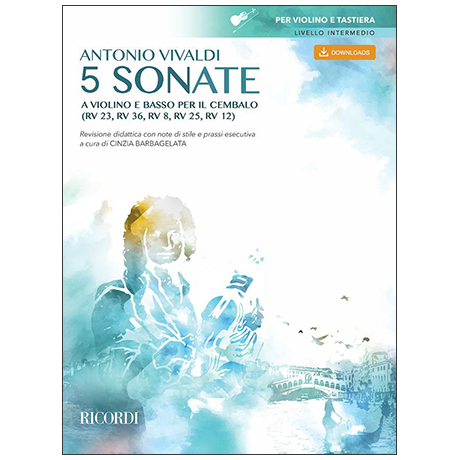 Vivaldi, A.: 5 Violinsonaten (+Download Code)