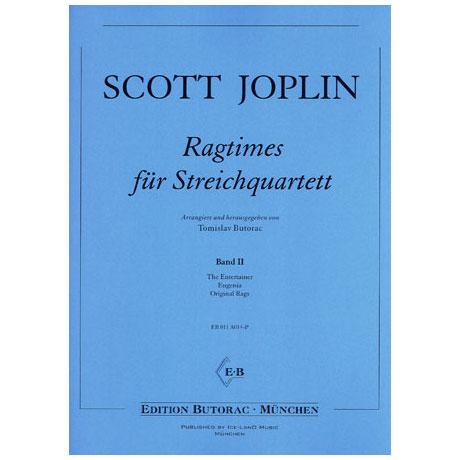 Joplin, S.: Ragtimes für Streichquartett Band 2