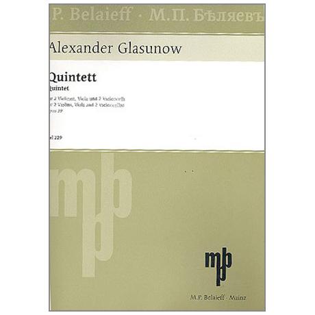Glasunow, A.: Streichquintett Op. 39 A-Dur