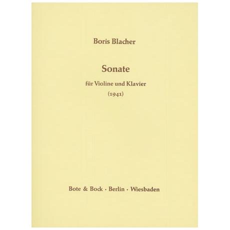 Blacher, B.: Violinsonate