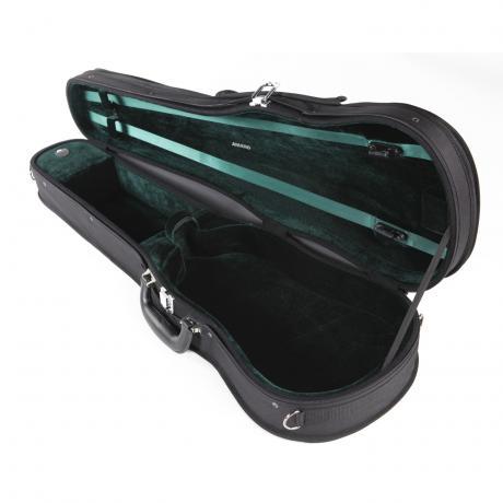 AMATO light violin shaped case 4/4   black/green