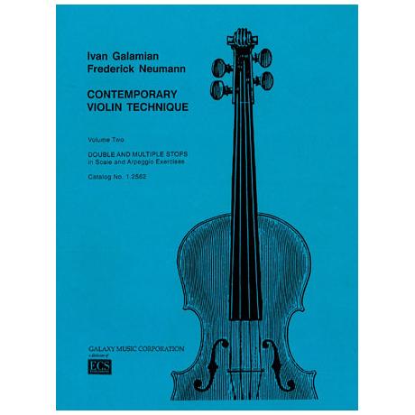 Galamian, I.: Contemporary violin technique Vol.2